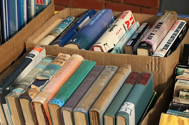 box of donated books
